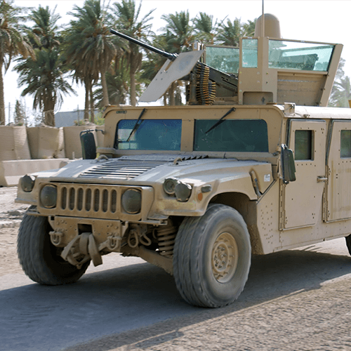 Humvee in a tropical climate.